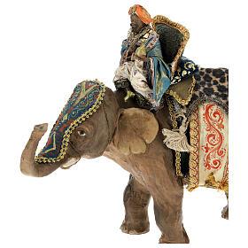 Rey Mago moreno y elefante 13 cm Angela Tripi s2