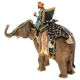 Rey Mago moreno y elefante 13 cm Angela Tripi s10