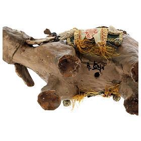 Rey Mago moreno y elefante 13 cm Angela Tripi s11