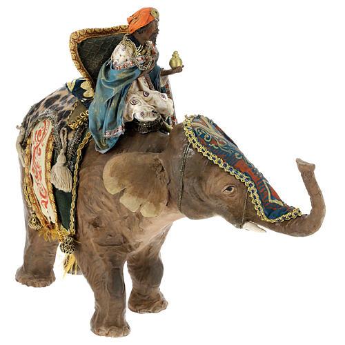 Rey Mago moreno y elefante 13 cm Angela Tripi 4