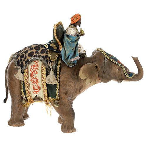 Rey Mago moreno y elefante 13 cm Angela Tripi 6
