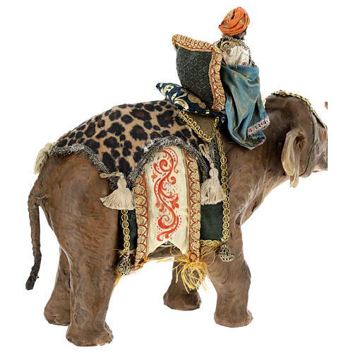 Rey Mago moreno y elefante 13 cm Angela Tripi 8