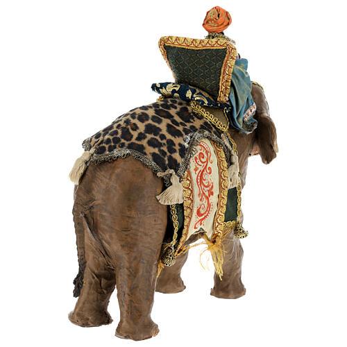 Rey Mago moreno y elefante 13 cm Angela Tripi 9