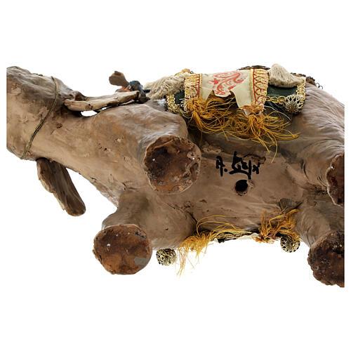 Rey Mago moreno y elefante 13 cm Angela Tripi 11