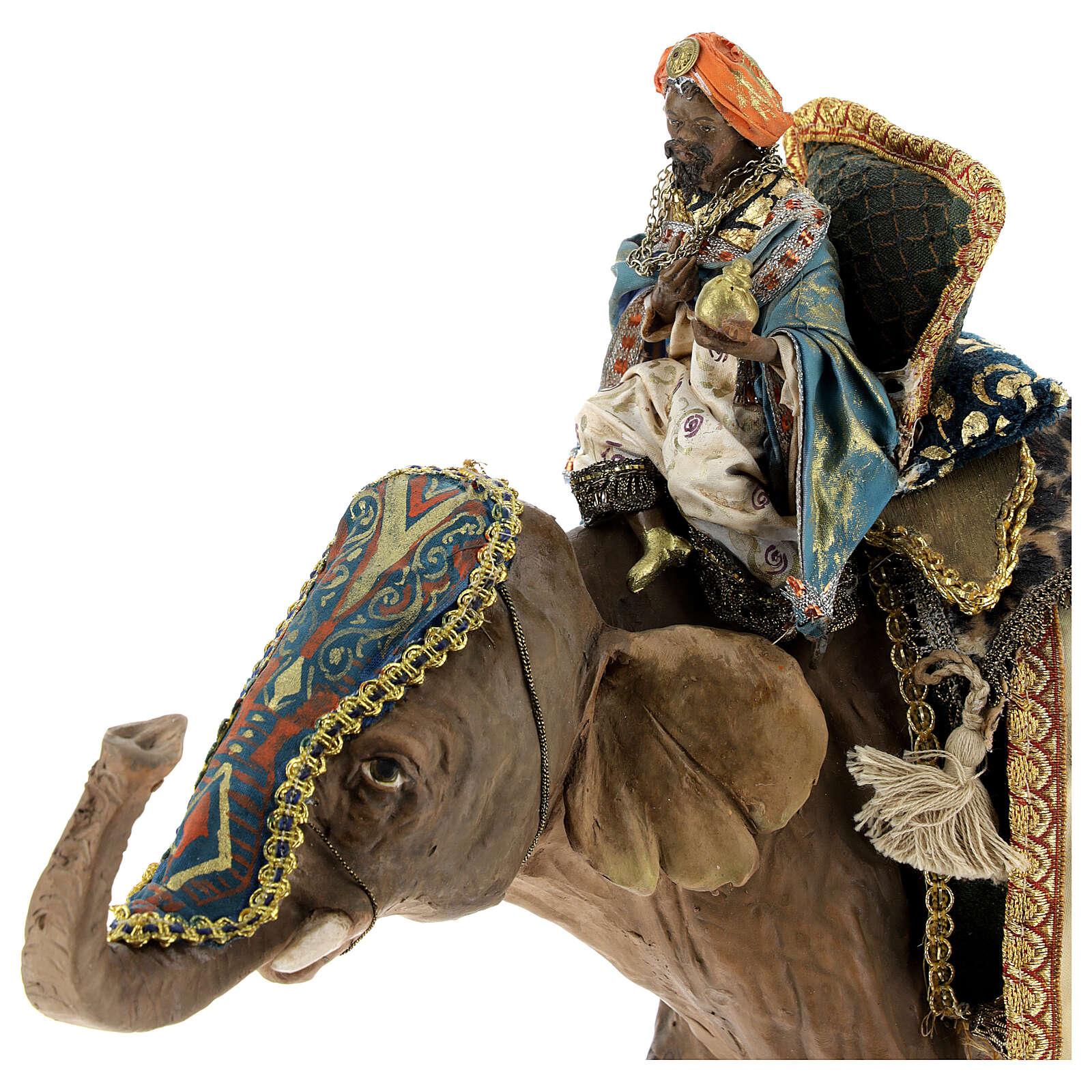 Re magio moro su elefante 13 cm Angela Tripi 4