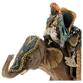 Re magio moro su elefante 13 cm Angela Tripi s5