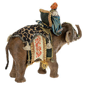 Moor Magi on elephant, 13 cm Angela Tripi s7