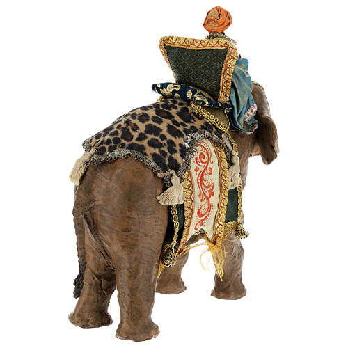 Moor Magi on elephant, 13 cm Angela Tripi 9