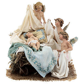 Nativity manger with putti, A. Tripi 30 cm s1