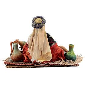 Moor woman sitting with ceramics, 18 cm Tripi nativity s6