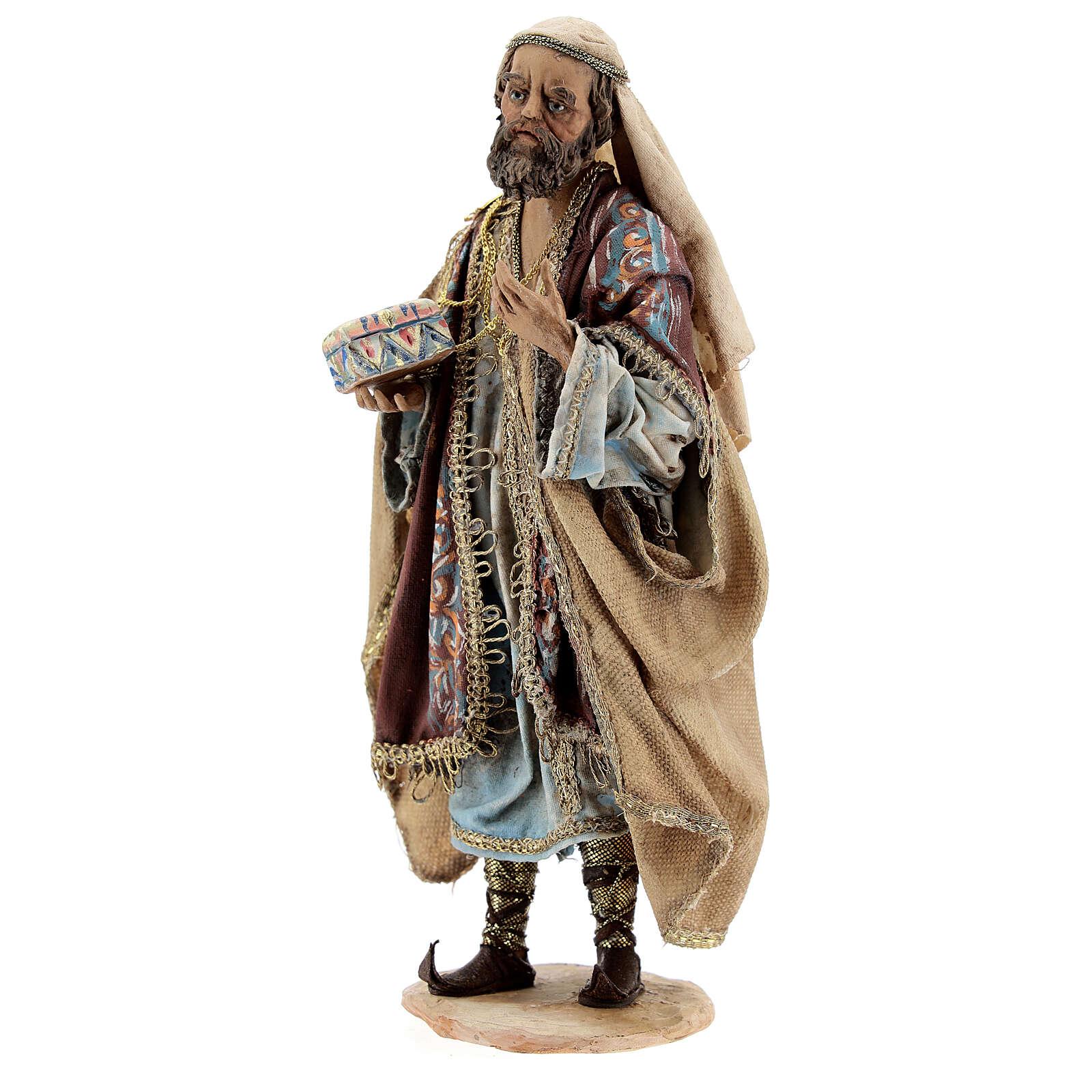 White Three Wise Man statue standing 18 cm Angela Tripi 4