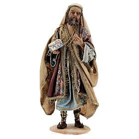 White Three Wise Man statue standing 18 cm Angela Tripi s1