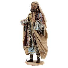 White Three Wise Man statue standing 18 cm Angela Tripi s3