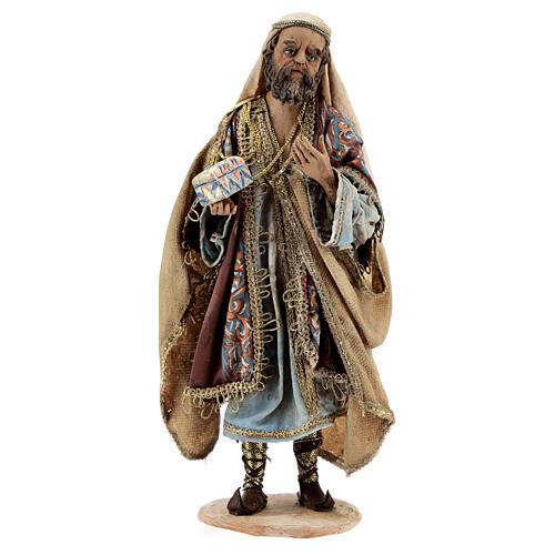 White Three Wise Man statue standing 18 cm Angela Tripi 1