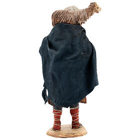 Voyageur mouton sur les épaules crèche 18 cm Angela Tripi s5