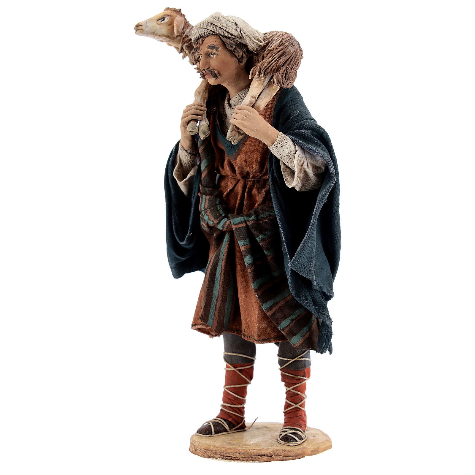 Wanderer with sheep on shoulders, 18 cm Tripi nativity 4