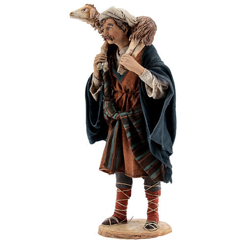 Wanderer with sheep on shoulders, 18 cm Tripi nativity 3