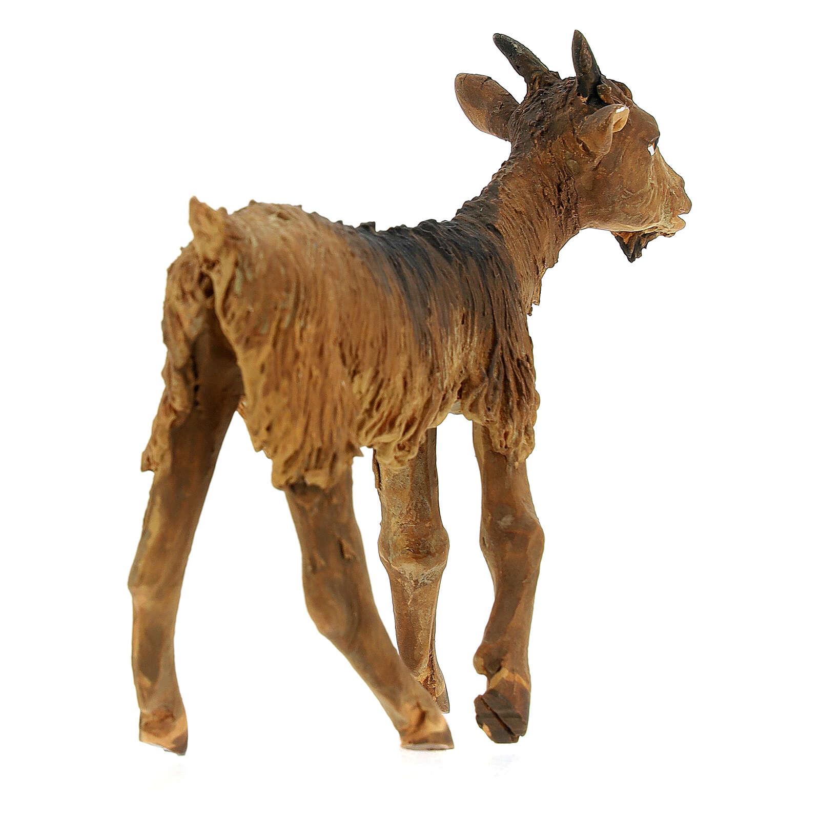 Goat statue 18 cm Angela Tripi terracotta 4