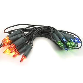 Luce di Natale 20 pisellini multicolor s1