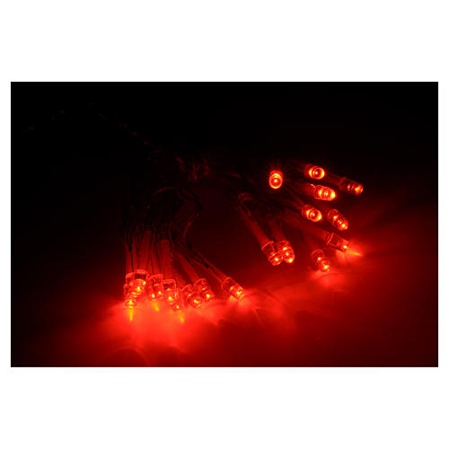 Fairy lights 20 red LED lights, for indoor use 2
