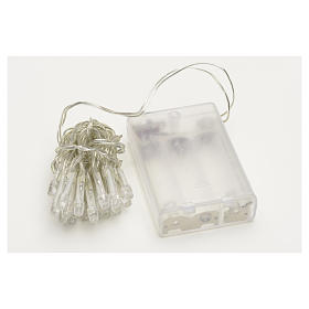 Fairy lights 20 lilac LED lights, for indoor use s3