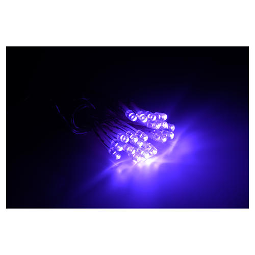 Fairy lights 20 lilac LED lights, for indoor use 2