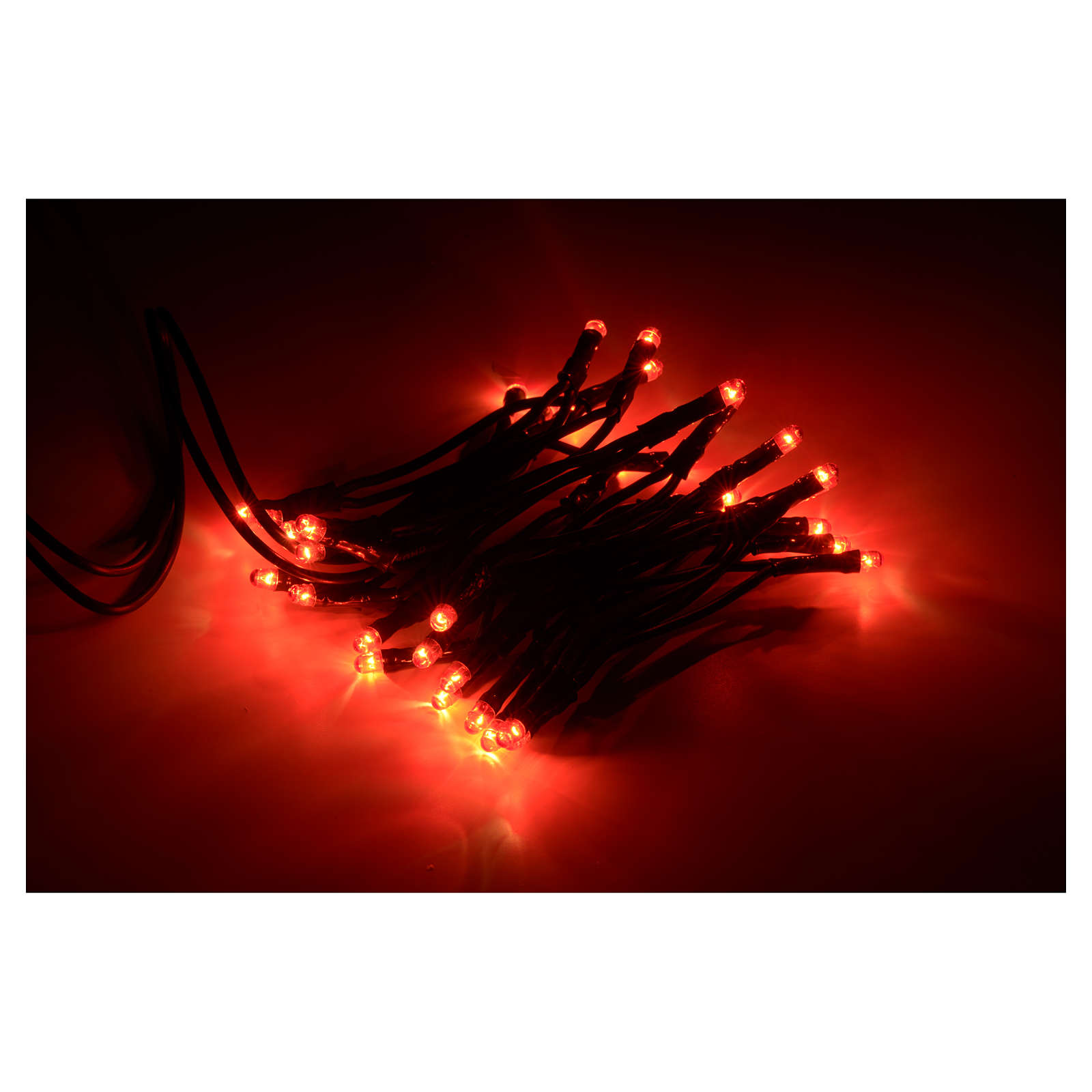 Luce natalizia 35 bollicine rosse 3