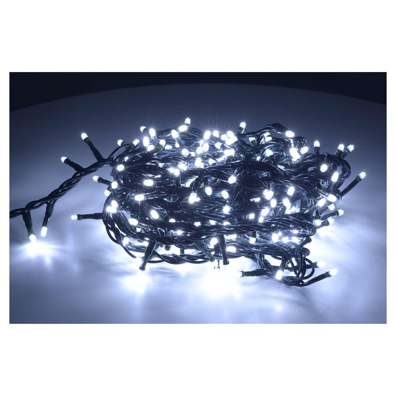 Luce di Natale 300 led bianco ghiaccio per interno 3