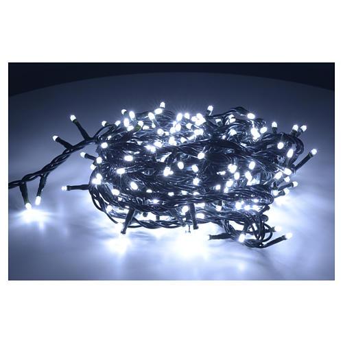 Luce di Natale 300 led bianco ghiaccio per interno 2