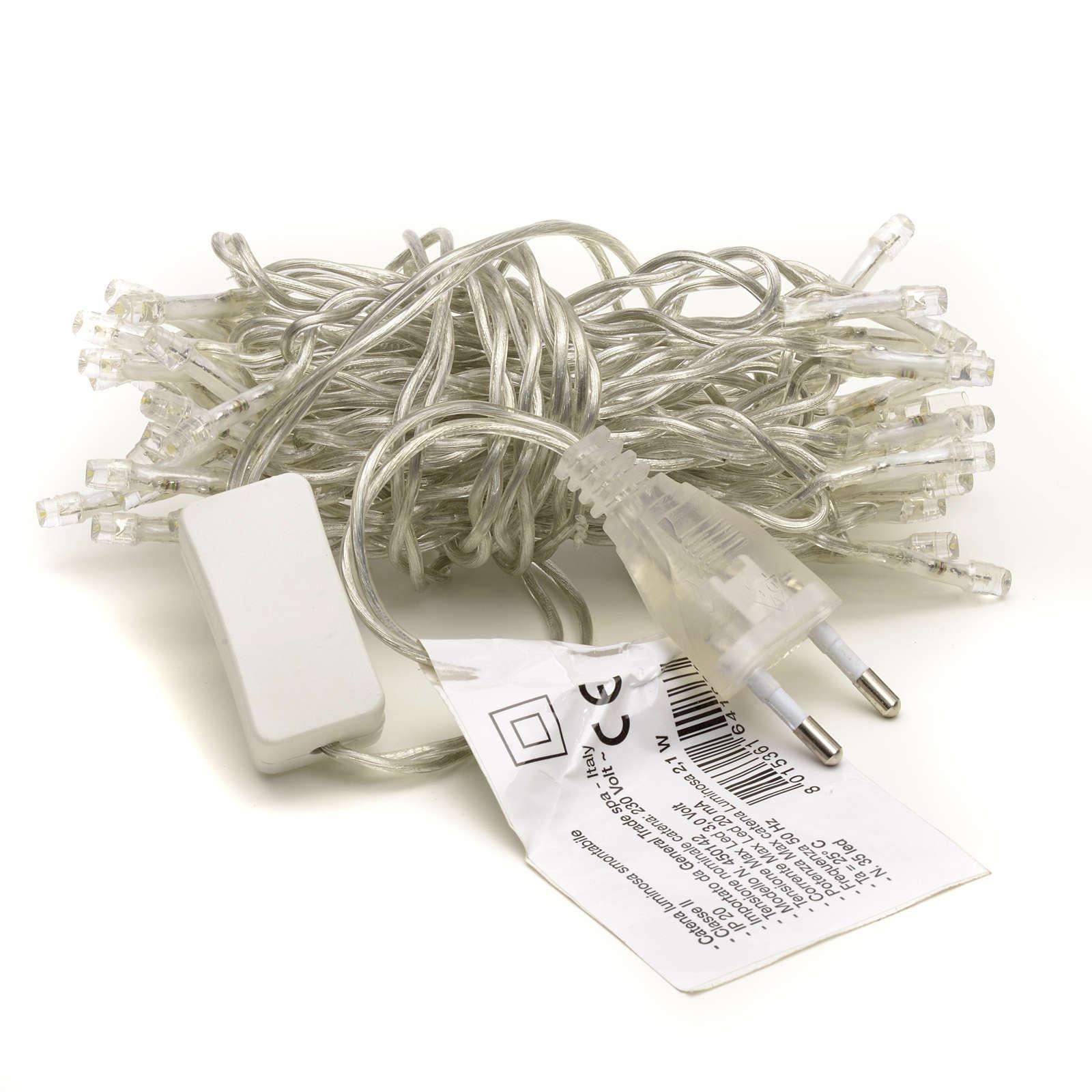 Luz navideña cadena 35 led blanco para interno 3