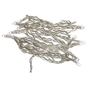 Luz navideña cadena 35 led blanco para interno s4