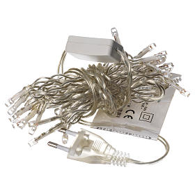 Luz navideña cadena 35 led blanco para interno s6