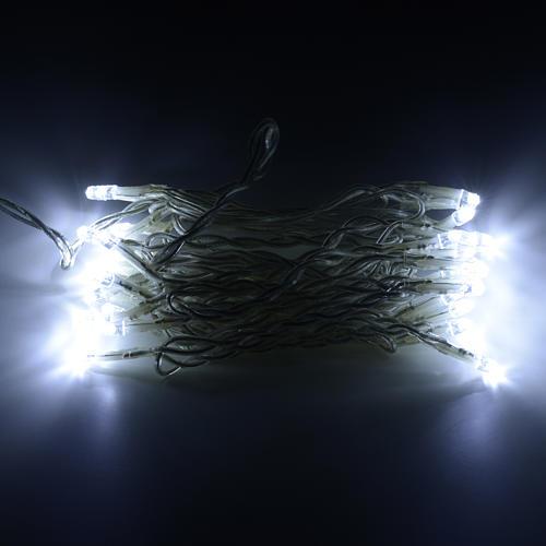 Luce natalizia catena 35 led bianco ghiaccio per interni 2