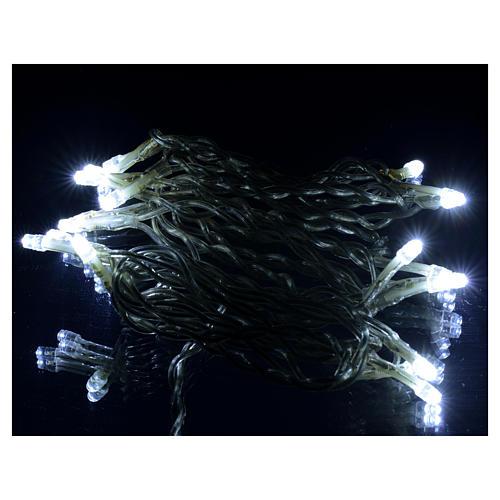 Luce natalizia catena 35 led bianco ghiaccio per interni 5