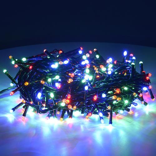 Luce Natale 300 led multicolor per interni 2