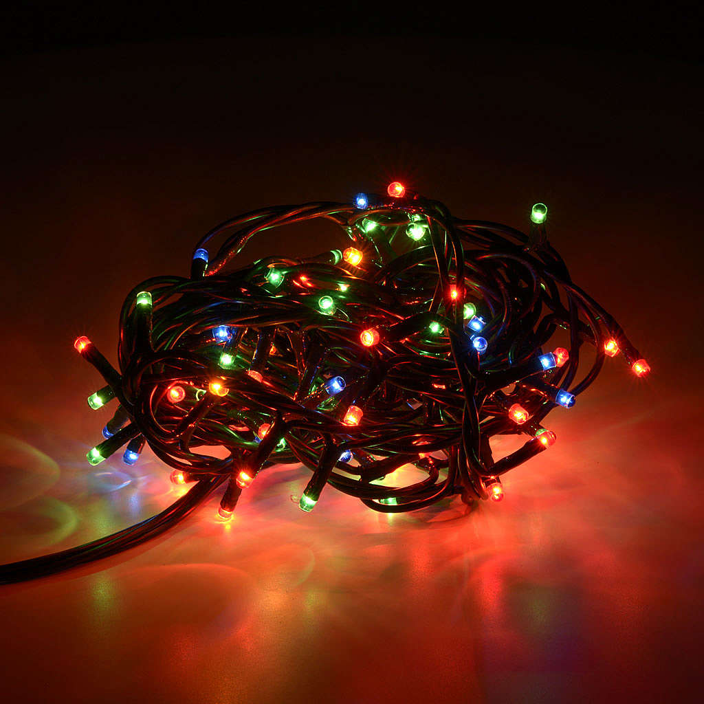 Christmas lights 100 mini lights, multicoloured, for indoor use 3