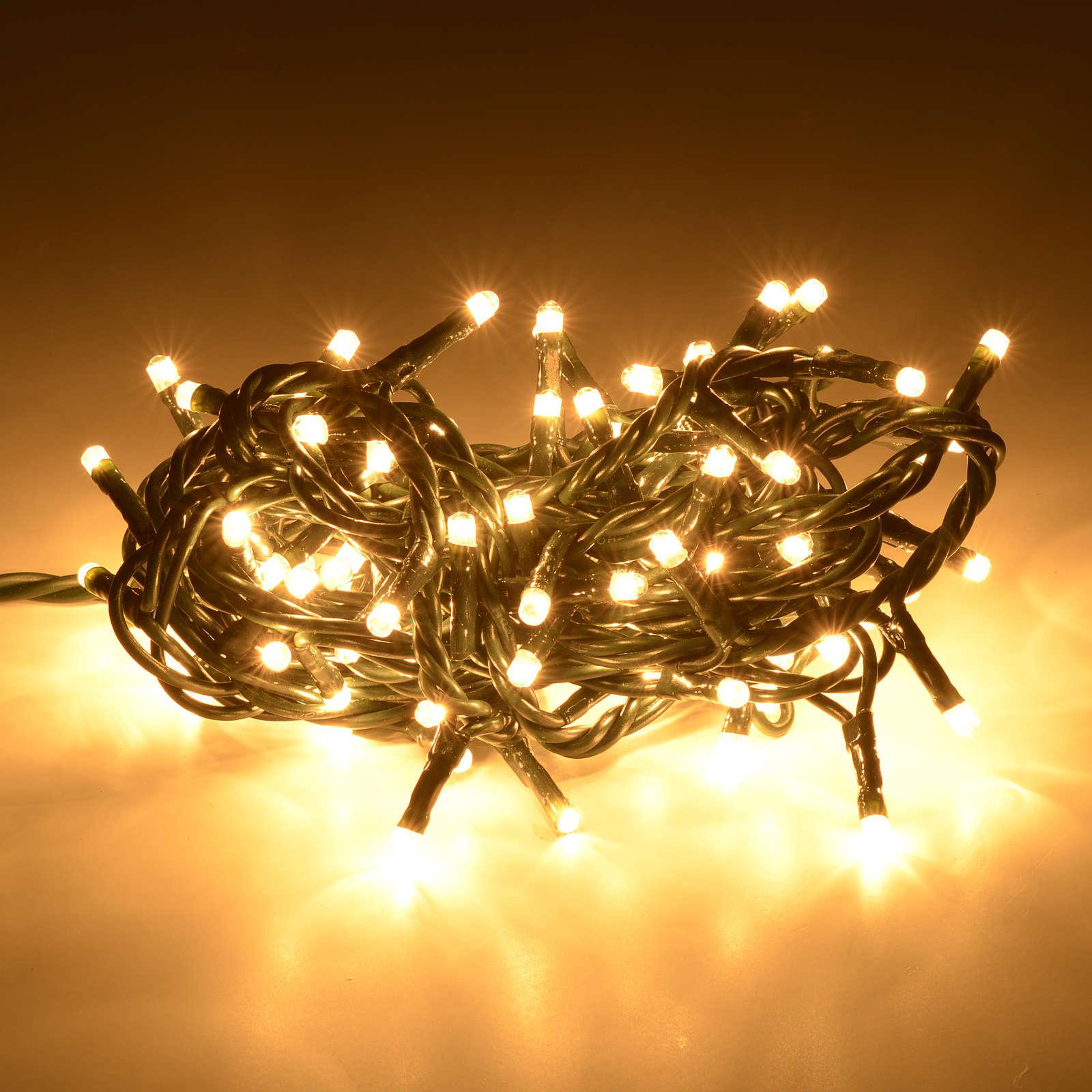 Eclairage Noel 100 mini ampoules blanches intérieur 3