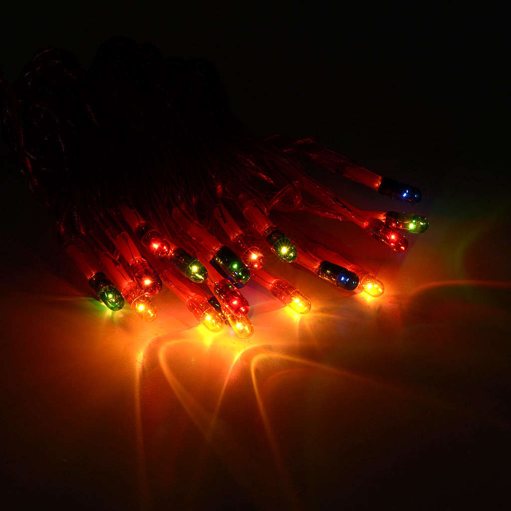 Christmas lights 20 star lights, multicoloured for indoor use 3
