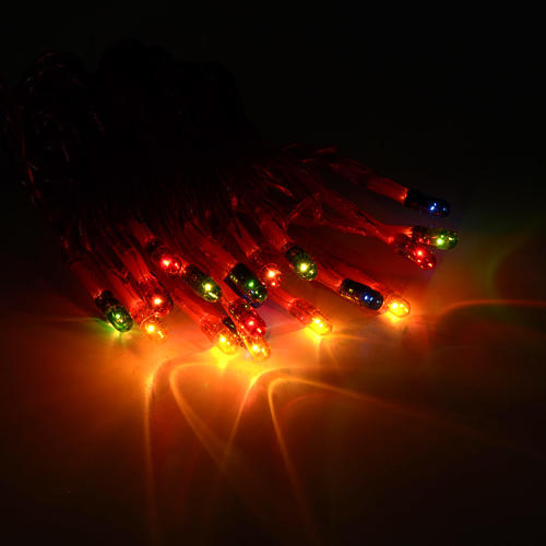 Christmas lights 20 star lights, multicoloured for indoor use 2