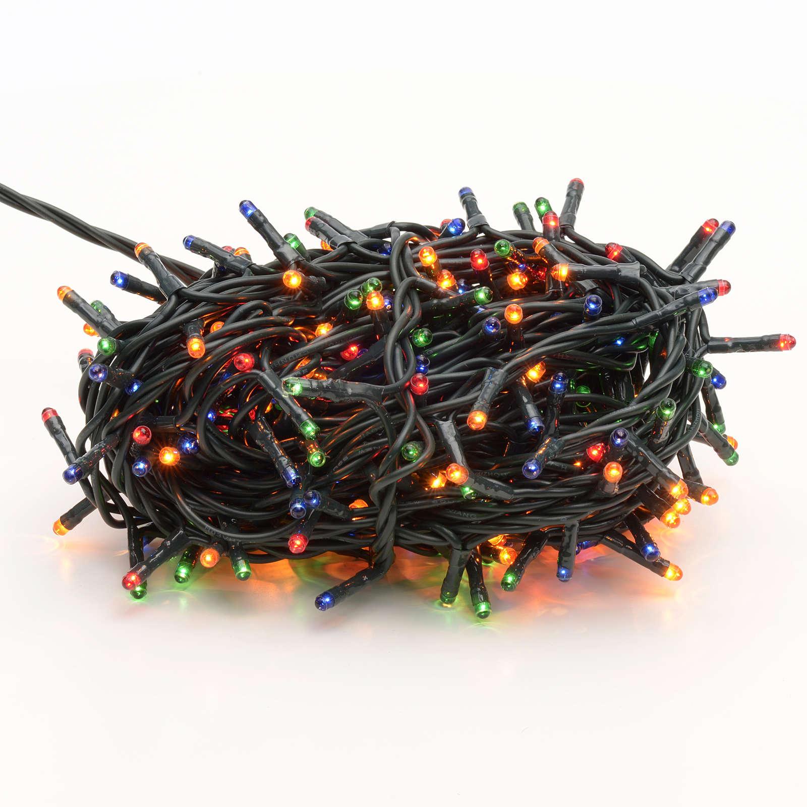 Luce Natale 300 minilucciole multicolor per interni 3