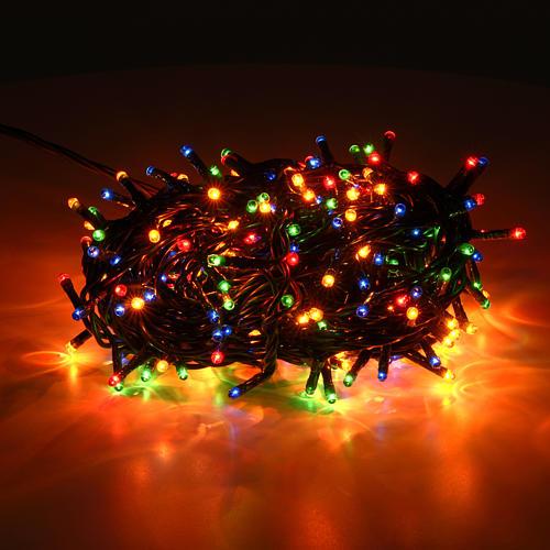 Luce Natale 300 minilucciole multicolor per interni 2