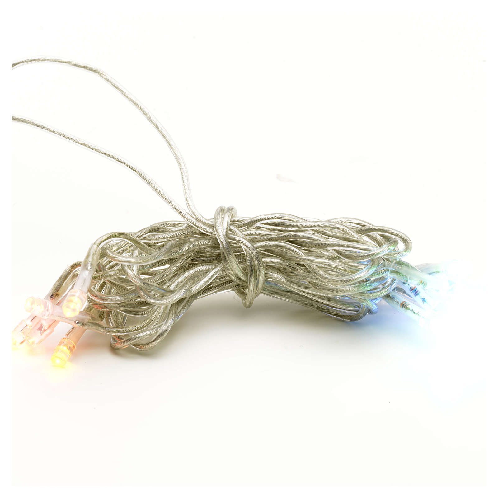 Luz 10 LED Multicolor cable transparente 3