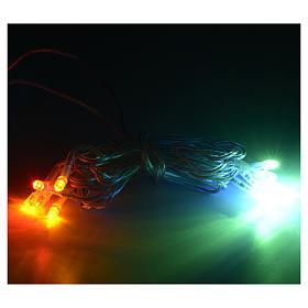 Luz 10 LED Multicolor cable transparente s2