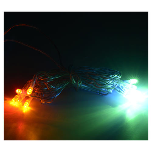 Luz 10 LED Multicolor cable transparente 2