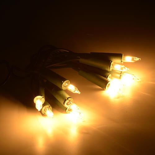 Luz 10 bombillitos color blanco, cable verde 2