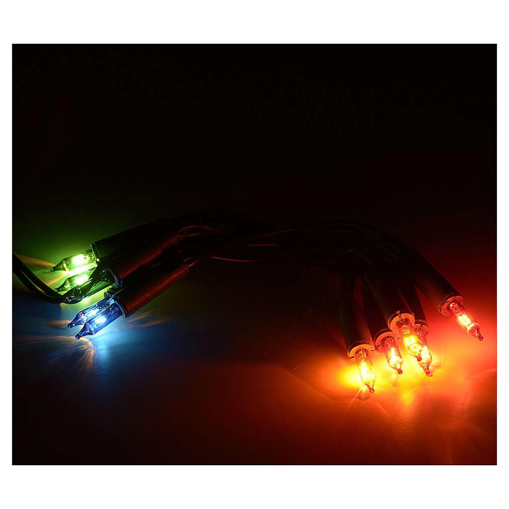 Luces 10 bombillitos multicolor, 90 cm 3