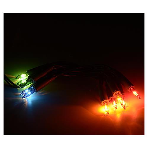 Luces 10 bombillitos multicolor, 90 cm 2