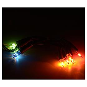 Guirlande lumineuse de noel 10 petites ampoules multicolore s5