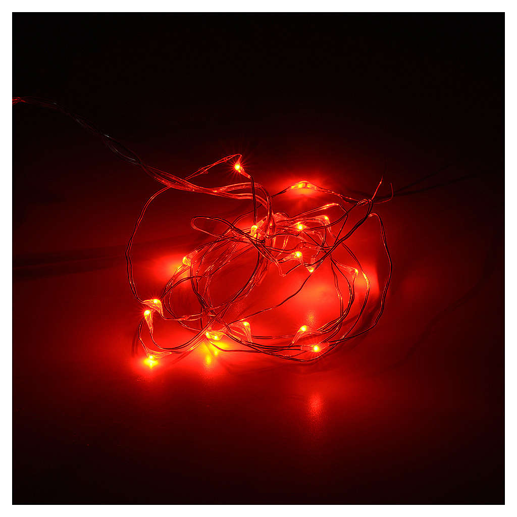 Christmas lights, 20 LED lights, red for indoors use 3