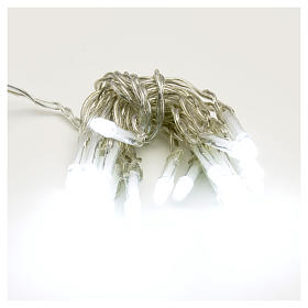 Guirlande lumineuse de noël 20 LED blanc froid avec piles s1